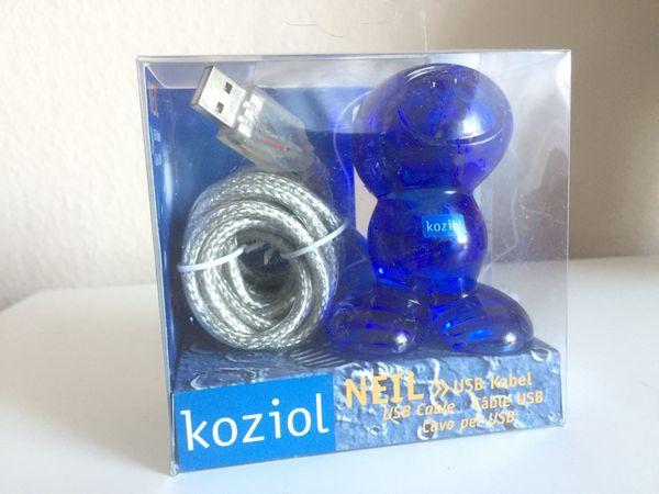 Design-Klassiker Koziol USB Kabelhalter Neil