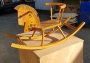 Holzschaukelpferdchen aus Massivholz zu verkaufen