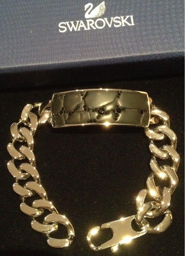 Neu Swarovski Herrenarmband mit Kristallen