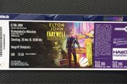 Karte Elton John Farewell Konzert