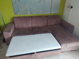 Polster, Sessel, Couch - Wohnzimmer Couch ausziehbar schlafen Ottomane