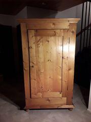 Dielenschrank Garderobenschrank Eintürer Weichholz