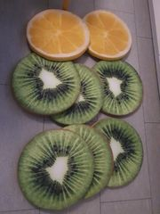 8 Stuhlkissen in Fruchtoptik