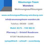 Wohnungsauflösung Entrümpelung Haushaltsauflösung Würzburg