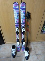 Kinderski mit Bindung Skischuhe und