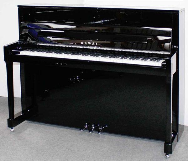 Klavier Kawai K-200SL, 114 cm, schwarz poliert, Baujahr 2019, 5 Jahre Garantie