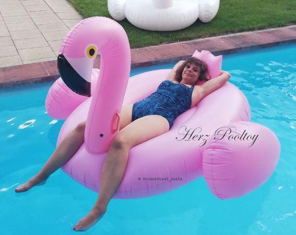 Riesiger Flamingo aufblasbar 200x190x130cm NEU