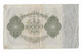 Münzen - zehntausend Mark Reichsbanknote