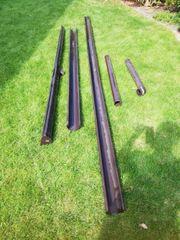 Dachrinne Regenrinne Einzelteile Braun Kunststoff