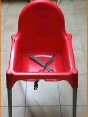 Ikea Hochstuhl Kinderstuhl Antilop rot