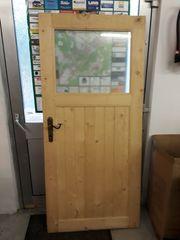Holztür Holz mit Glas