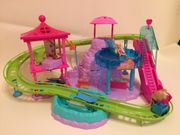 GROSSE ORIGINAL POLLY POCKET Wasserpark-Achterbahn