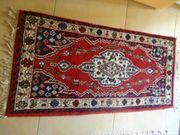 alter handgeknüpfter Teppich Indien Mazlaghan
