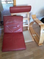 IKEA Poäng Schaukelstuhl inkl rote