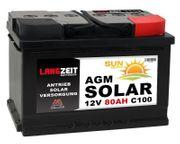 Langzeit AGM Solar Batterie 80Ah