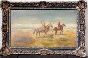 Antike Gemälde Franz Roubaud signiert