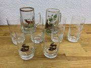 Gläser Sammlung Jagt Motive Biergläser