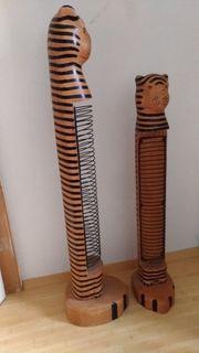 CD Ständer Tiger aus Holz