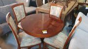 Tisch mit 4 Stühlen Wurzelholz -