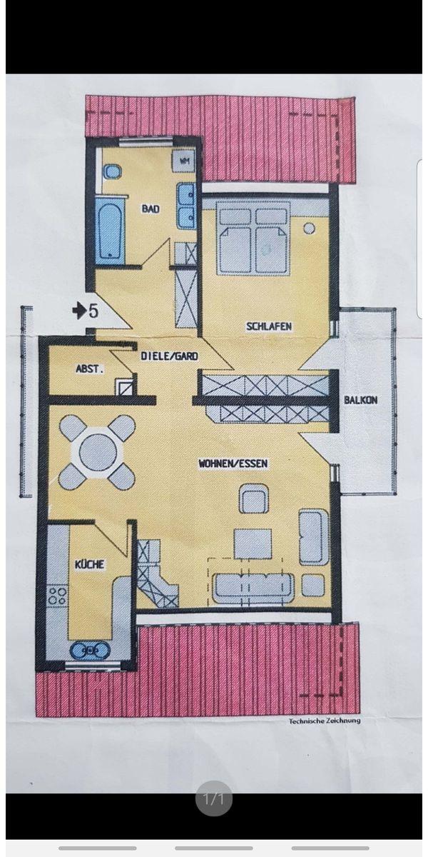 Sonnige 2 5-Dachgeschosswohnung in ruhiger