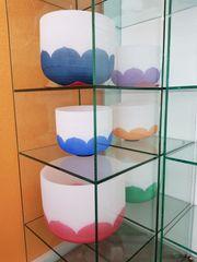 Set Kristall - Klangschalen aus mattiertem