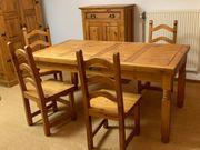 Esstisch mit vier Stühlen - MEXICO