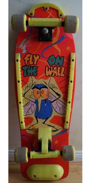 Skateboard fly on the Wall