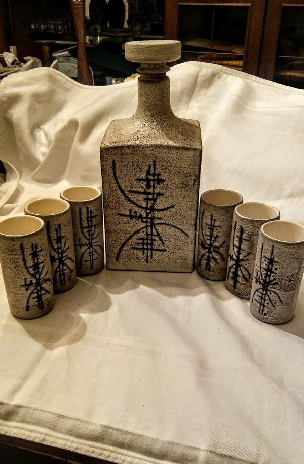 Schnapsglasset Keramik Original Vallauris 60er