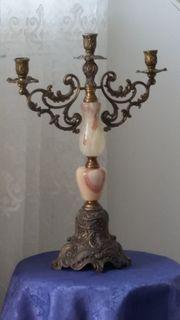 Kerzenleuchter Messing Gussmessing Kerzenständer Kerzenhalter