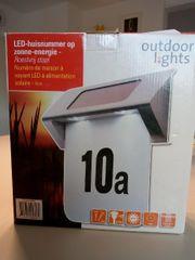Beleuchtete Hausnummer Solar LED