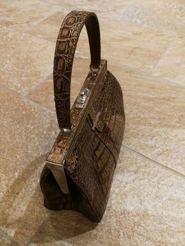 Bild 4 - Alte hübsche braune Damenhandtasche - Nienburg