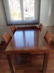 Tisch mit 4 Sesseln