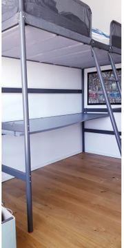 IKEA TUFFING Hochbett Inkl Schreibtisch