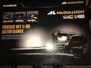 McCulloch Akku-Laubbläser 40V Gebläse