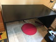 Schreibtisch schwarz 155x70x70 zu Verschenken