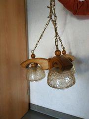 3armige rustikale Wohnzimmerlampe
