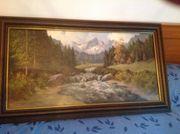 Gemälde Gebirgslandschaft von J H