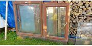 4 Holzfenster mit Doppelverglasung