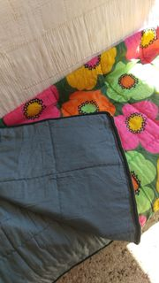 Vintage Schlafsack 70er Flower-Power