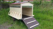 Fahrbare Stall Weidehütte Schafe Ziege