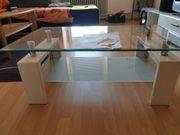 Glas Tisch weiß