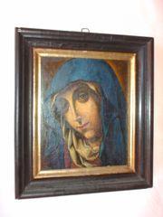 antikes Muttergottes-Portrait - ausgesprochen seltene Rarität -