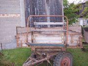 Anhänger Wagen Rolle Holzwagen Marke