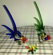 3 mundgeblasene Figuren aus Glas