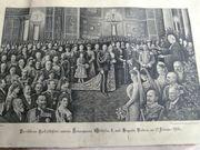 Lithographie Silberhochzeit Kaiser Wilhelm II