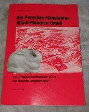 Allach Buch Die Porzellan-Manufaktur Allach-München