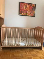 Kinderbett Bettchen mit Matratze Ahorn