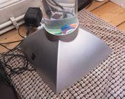 Wassersäule mit Fischen Farbwechsler Lampe