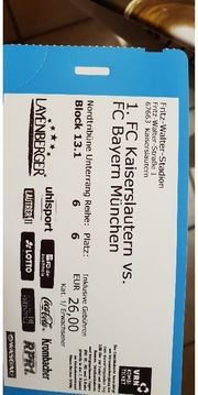 1 Ticket FC Kaiseralautern-FC Bayern