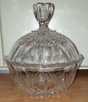 Kristallglasschale Schale mit Deckel Bonboniere